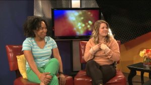 St. Louis SLAM players Tiffany Pugh (left) and Taylor Hay. Image Credit: KPLR-TV