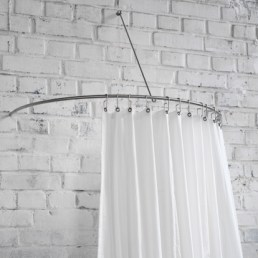 curved shower curtain rod as a semi