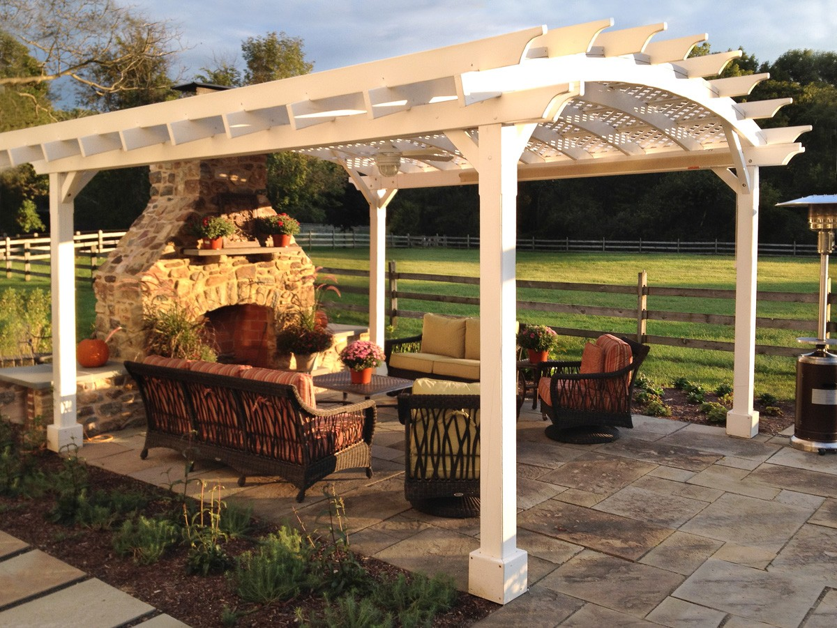 arched pergola by forever redwood