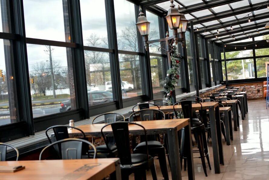 cinder bar restaurant patio enclosure