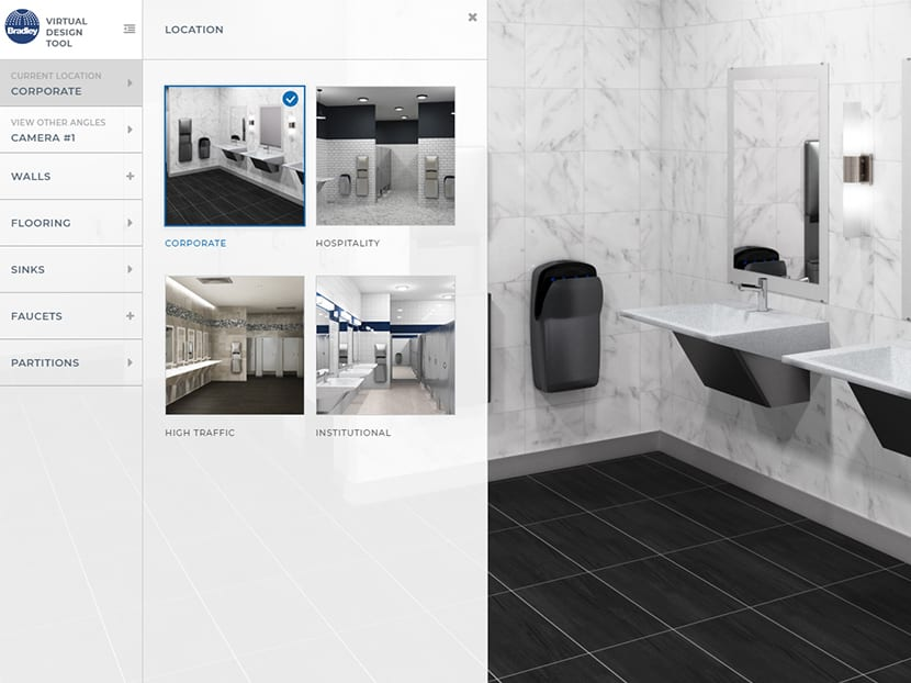 Bradley Virtual Restroom Design Tool ARCHEN News Amazing Bradley Bathroom Partitions Property