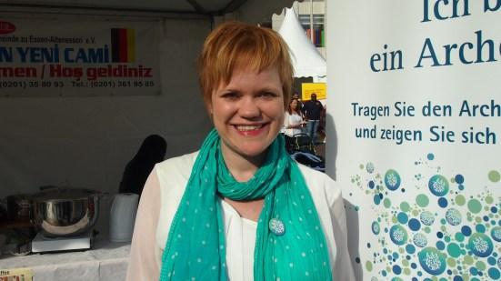"""Sonja Strahl, Mülheim """"Ich bin ein Arche-Typ, weil ich man zusammen immer mehr schafft als allein."""" Foto: Gordon Strahl"""