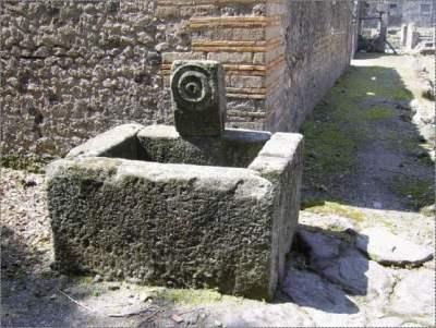 Conceria a Pompei - Una fontana