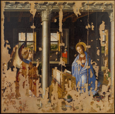 Antonello da Messina - Annunciazione (prima del restauro)