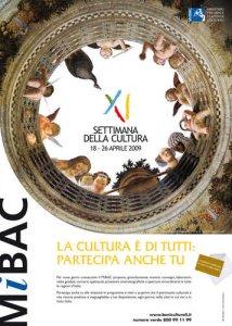 XI settimana della cultura 2009