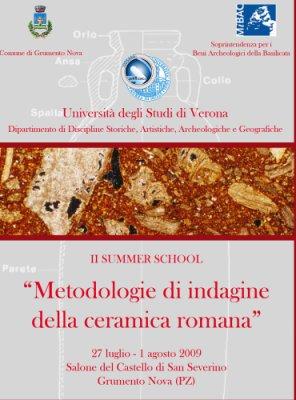 II summer school ceramica romana - 2009