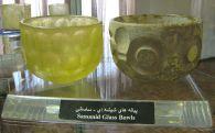 Verrerie sassanide au musée de Tabriz.
