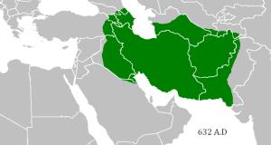 L'empire sassanide juste avant la conquête arabe.