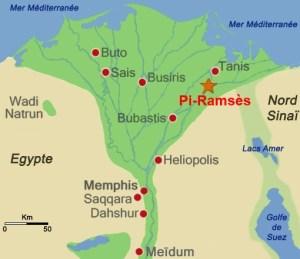carte delta Nil Pi-Ramsès