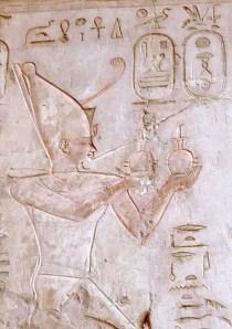 Psammetique Ier dans la tombe de Pasaba à Thèbes