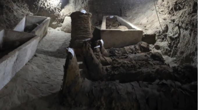 Catacombes gréco-romaines découvertes dans la nécropole de Tounah el-Gebel en Egypte