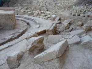 ruines théâtre grec antique Thouria Grèce