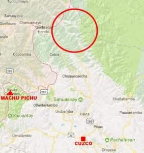 carte cité inca Païtiti