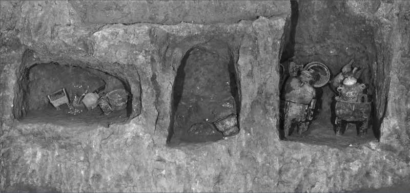 bronzes shang tombe zhou baoji shaanxi chine