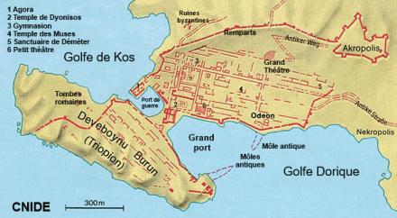 plan cité antique Cnide