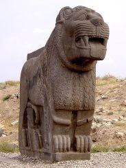 statue-lion-basalte-neo-hittite-ain-dara-syrie