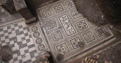 mosaïques fouilles métro Rome