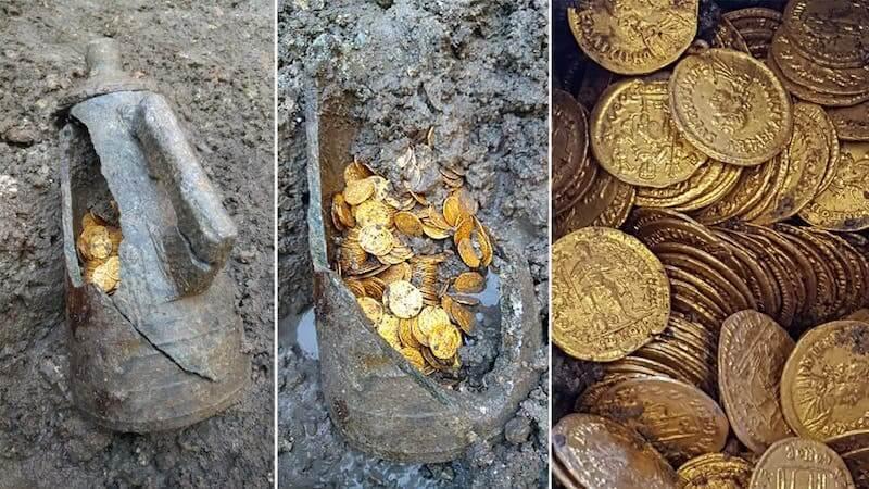 Trésor de 300 pièces d'or romaines découvert dans un ancien théâtre à Côme