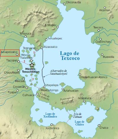 carte-mexico-lac-texcoco-azcapotzalco