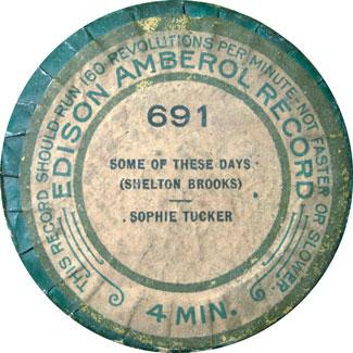 Edison Amberol lid for