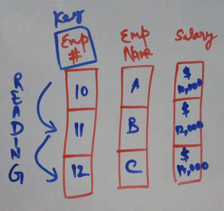 HANA Column Storage architecture