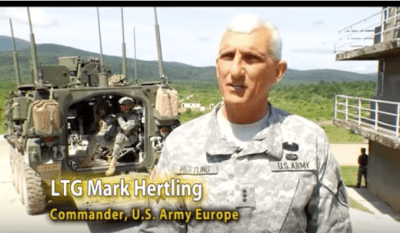 Image of a real general from a US Army video