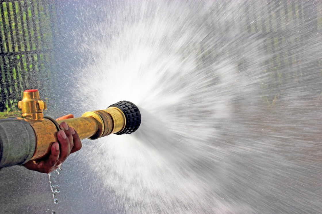 A DDoS is like a firehose of web traffic directed at a site to shut it down