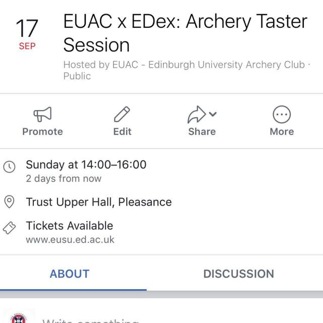 IMPORTANT  The archery taster session has been moved fromhellip