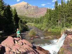 Red Rock Falls, Many Glacier area, Glacier National Park