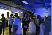 Blue lights drenched the party goers, creating an almost futuristic look among the stark white walls of Kenilworth.