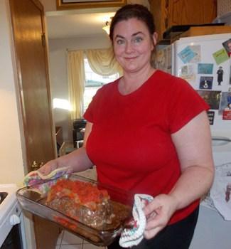 Jennifer Laske Holding the Meatloaf72dpi