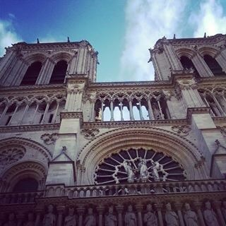 The Notre Dame Cathedral was a beautiful sight! The building was officially constructed in 1345.