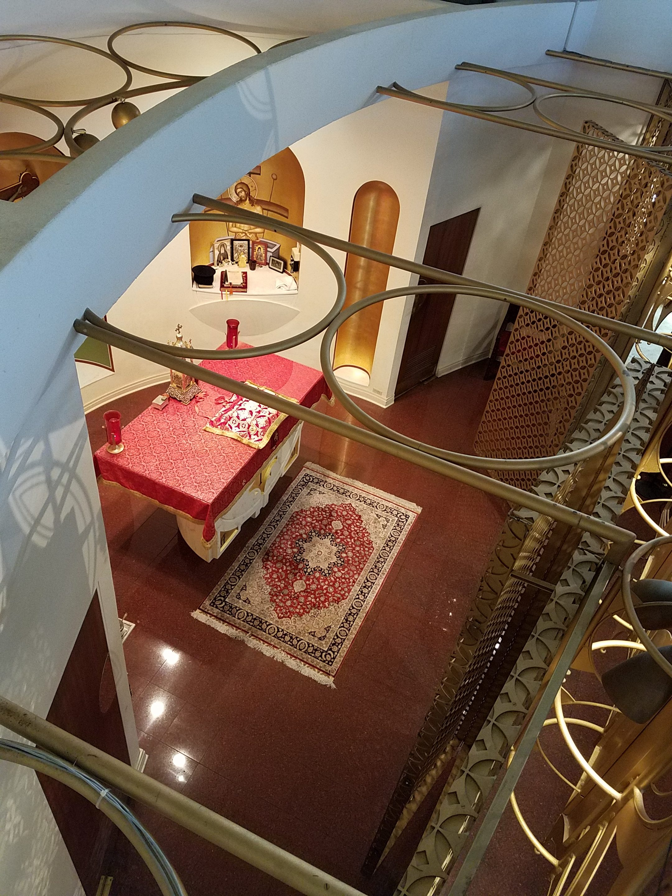top view of alter