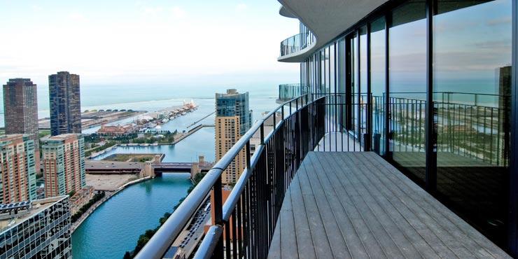 The terraces of the Aqua tower.