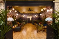 Hoxley and Porter Islington London. The whole restaurant bar was covered is just three seamless pieces of SuperSpan wallcovering.