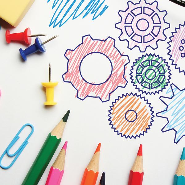 Annual Report graphic design sample for triangle non profit