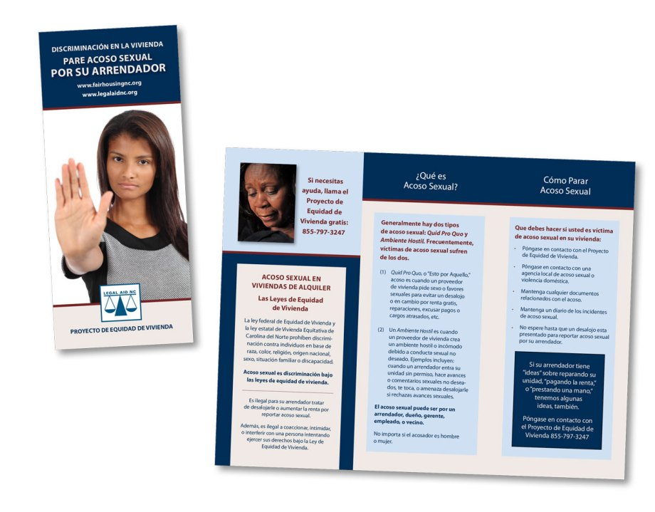 graphic design sample trifold brochure