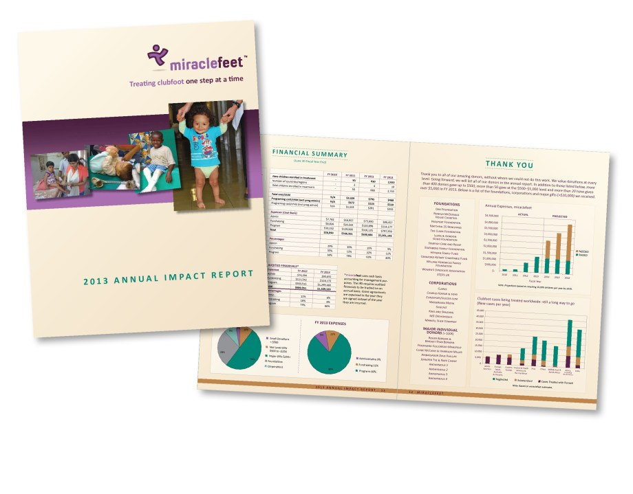 Raleigh Graphic Design Firm Sample annual report for nc nonprofit