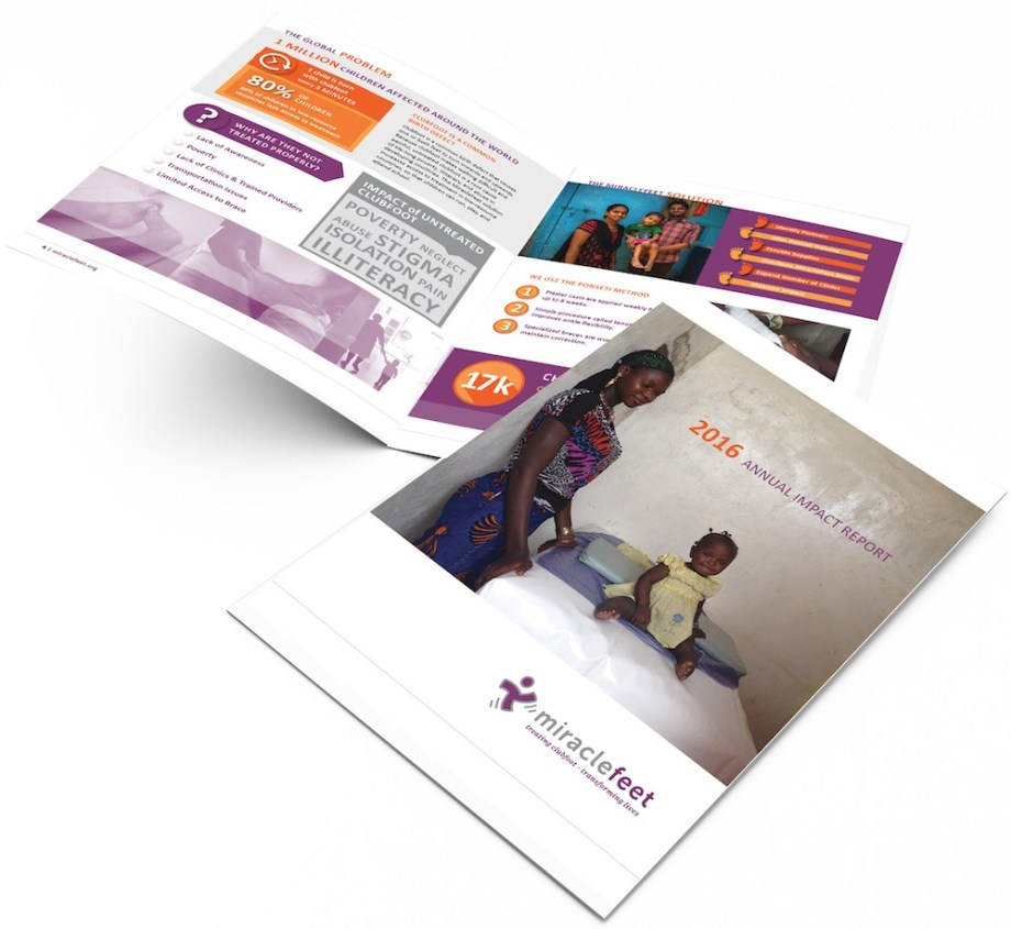 Raleigh Graphic Design Firm Sample annual report for nonprofit