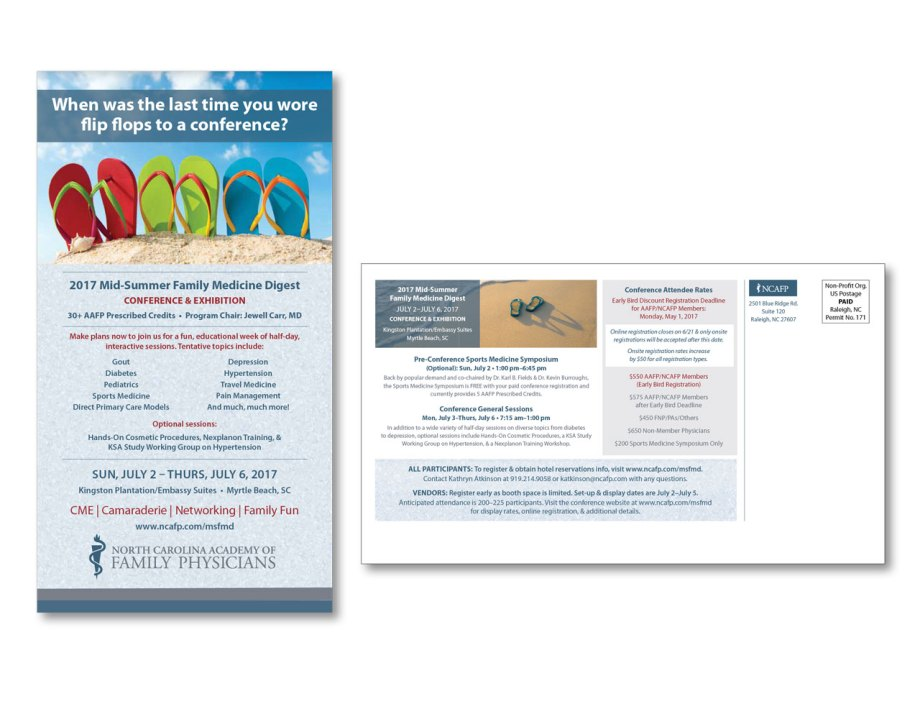 graphic design sample direct mail