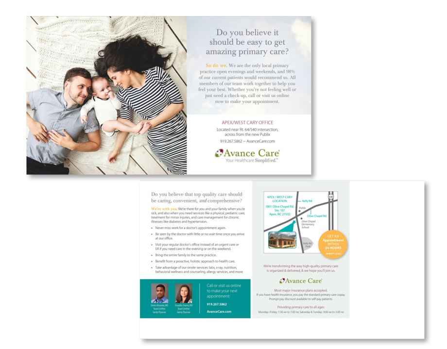 graphic design sample direct mail design sample front and back