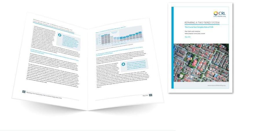 CRL FHA data report graphic design sample