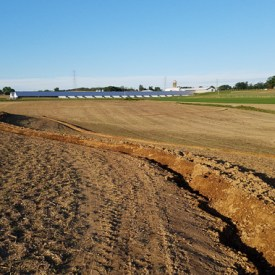 Contour Swale Under Construction