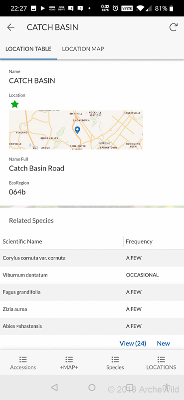 ArcheWild GPS LOG - Location Record