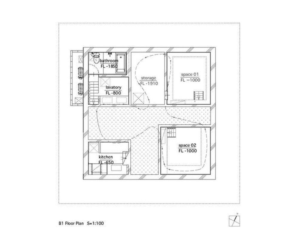 Floor Plan of the House  - Hiroshima Hut / Suppose Design Office