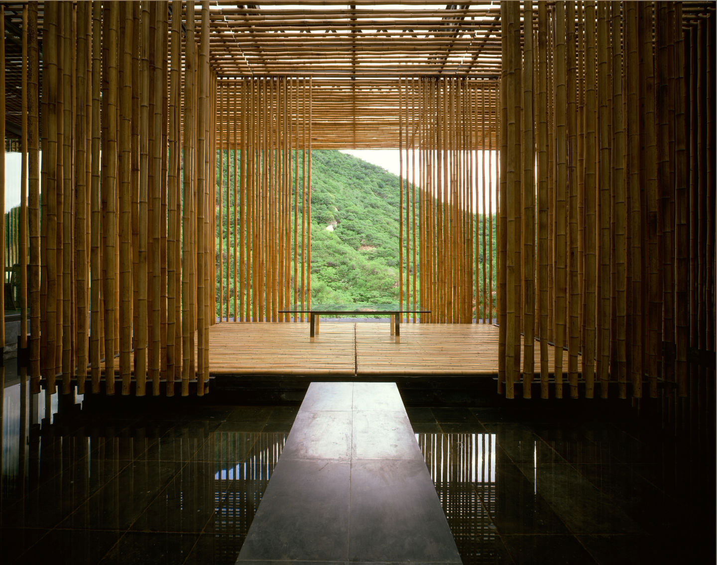Bamboo House Commune By The Great Wall Kengo Kuma Associates Archeyes