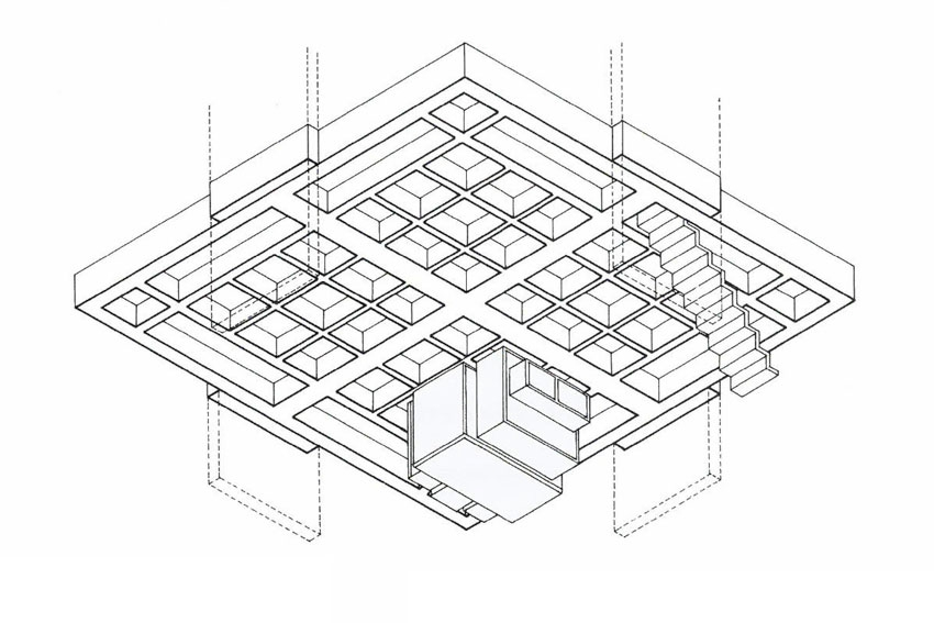 Axonometric view of the floor slab