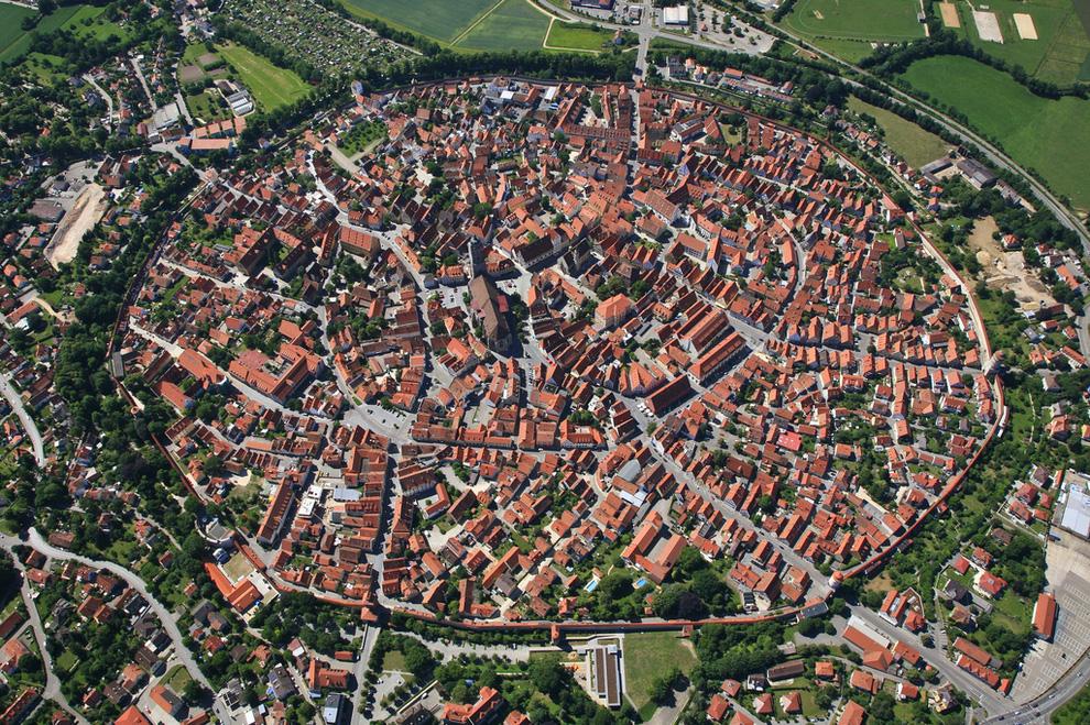 Nördlingen, Germany Aerial View