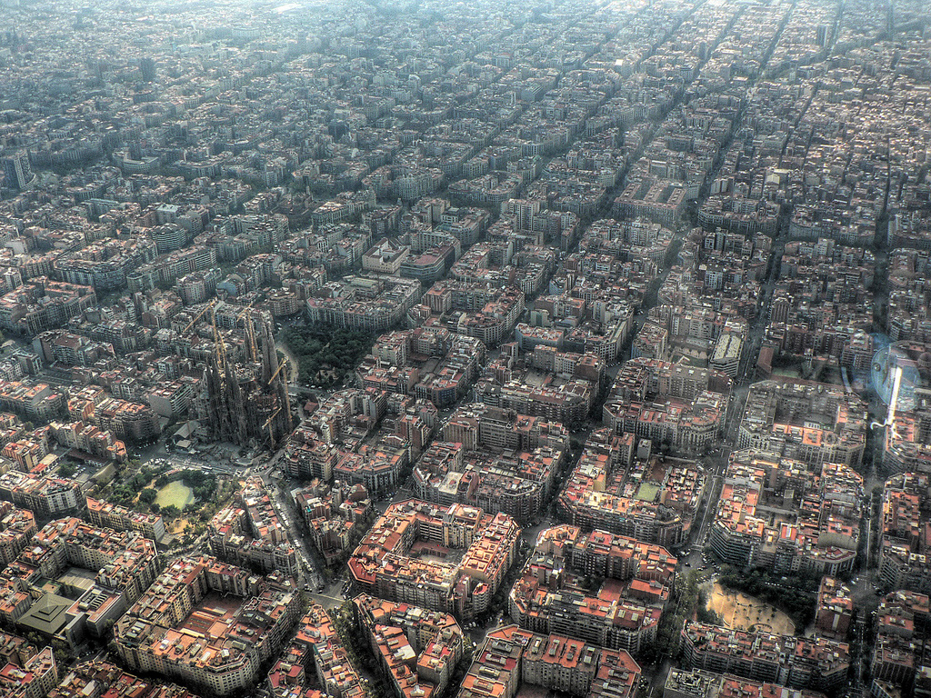 Barcelona, Spain Aerial View