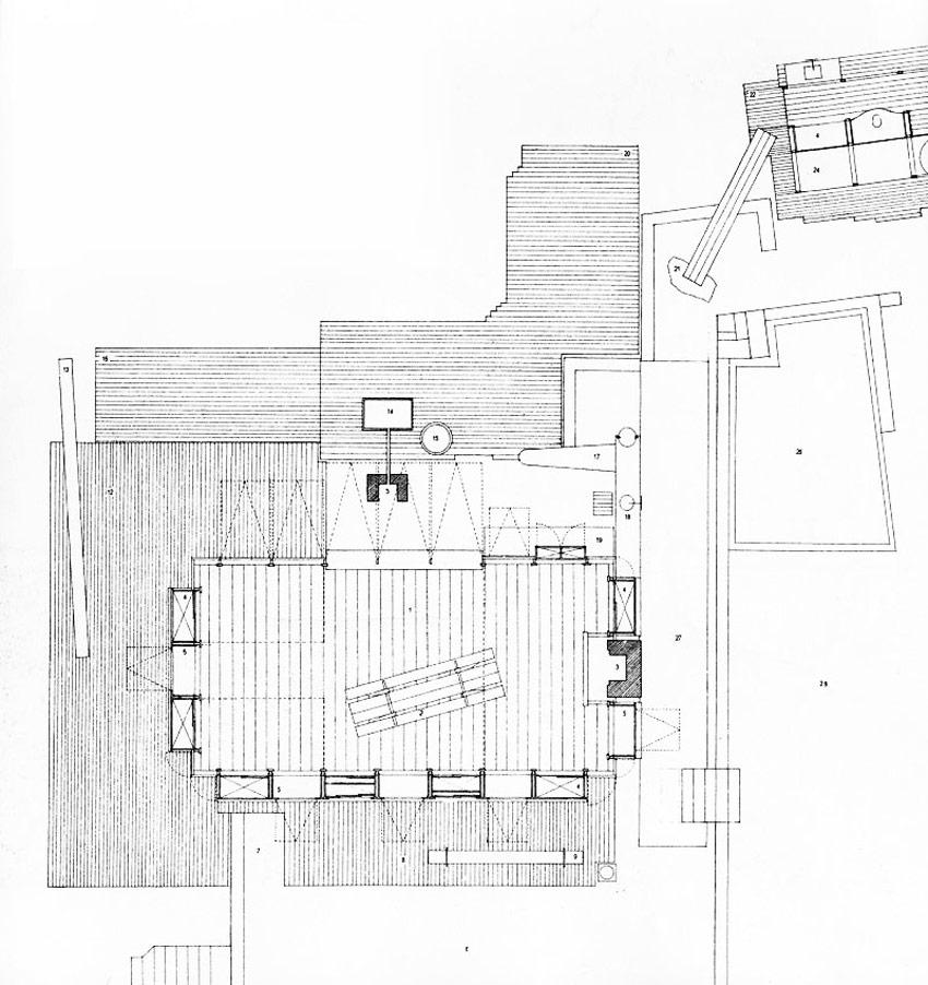 Floor Plan of the Lovett Bay House / Richard Leplastrier